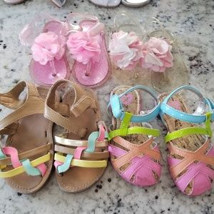 Toddler girls size 7 sandles